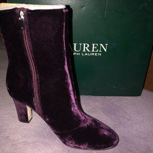 Ralph Lauren Velvet Boots